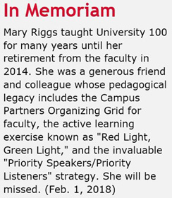 Tribute to Mary on CSUN site
